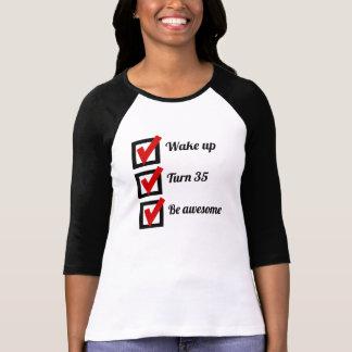 Awesome 35th Birthday Checklist Shirts