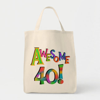 Awesome 40 Birthday T-shirts and Gifts Tote Bag