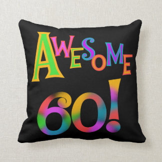 Awesome 60 Birthday T-shirts and Gifts Pillow