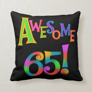 Awesome 65 Birthday Tshirts and Gifts Throw Pillow
