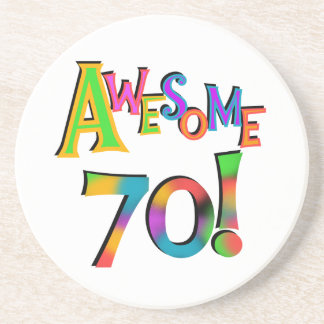 Awesome 70 Birthday T-shirts and Gifts Coaster