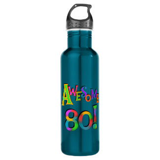 Awesome 80 Birthday T-shirts and 710 Ml Water Bottle