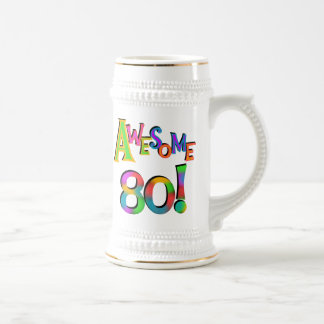 Awesome 80 Birthday T-shirts and Gifts Beer Steins