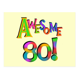 Awesome 80 Birthday T-shirts and Gifts Postcard
