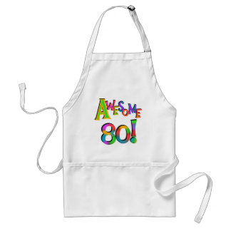 Awesome 80 Birthday T-shirts and Gifts Standard Apron