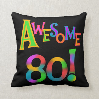 Awesome 80 Birthday T-shirts and Gifts Throw Cushion