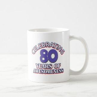 Awesome 80 year old gifts basic white mug