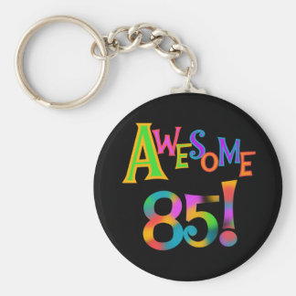 Awesome 85 Birthday T-shirts and Gifts Basic Round Button Key Ring