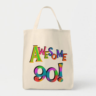 Awesome 90 Birthday T-shirts and Gifs Grocery Tote Bag