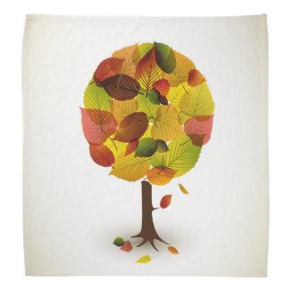 Awesome abstract tree leaf colors bandana