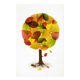"""Awesome abstract tree  leaf colors 5.5"""" x 8.5"""" flyer"""
