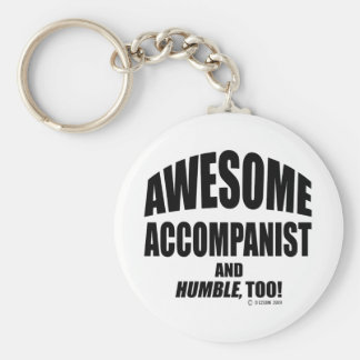 Awesome Accompanist Basic Round Button Key Ring