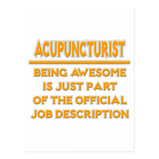 Awesome Acupuncturist .. Job Description Postcard