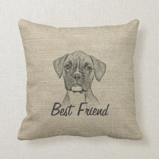 Awesome  adorable funny trendy boxer puppy dog cushion