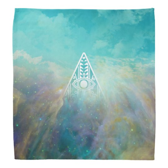 "Awesome ""All seeing eye"" triangle Orion nebula Bandana"
