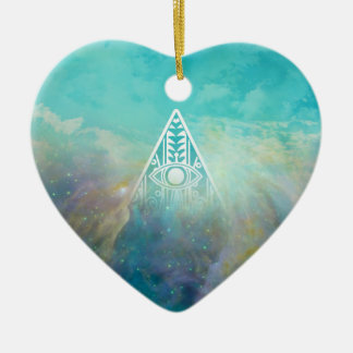"Awesome ""All seeing eye"" triangle Orion nebula Christmas Ornament"