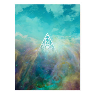 "Awesome ""All seeing eye"" triangle Orion nebula Postcard"