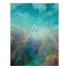 """Awesome """"All seeing eye"""" triangle Orion nebula Poster"""