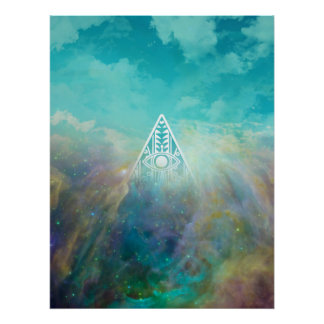 "Awesome ""All seeing eye"" triangle Orion nebula Poster"
