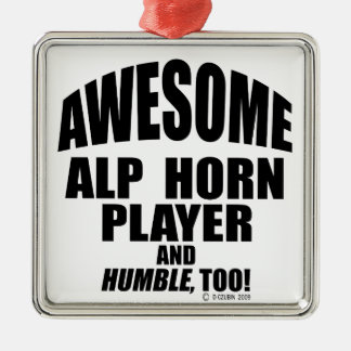 Awesome Alp Horn Player Ornament