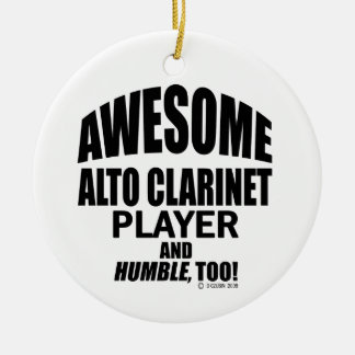 Awesome Alto Clarinet Player Christmas Ornament