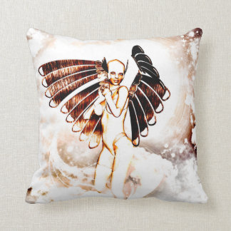 Awesome angel in the sky throw cushion