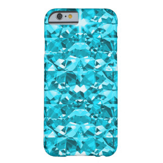 Awesome Aqua Diamonds Barely There iPhone 6 Case