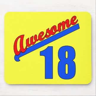 Awesome at 18 Years Old 18th Birthday Mouse Pad
