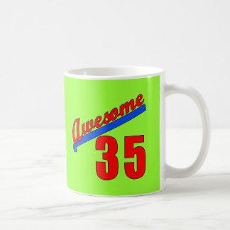 Awesome at 35 Years Old Basic White Mug