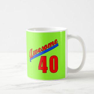 Awesome at 40 Years Old 40th Birthday Basic White Mug