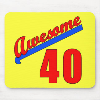 Awesome at 40 Years Old 40th Birthday Mousepad