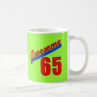 Awesome at 65 Years Old Basic White Mug