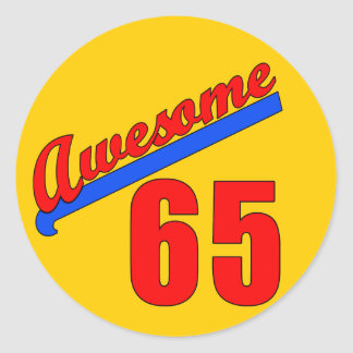 Awesome at 65 Years Old Classic Round Sticker