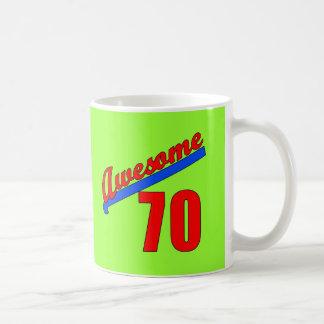 Awesome at 70 Years Old 70th Birthday Basic White Mug