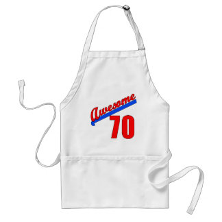 Awesome at 70 Years Old 70th Birthday Standard Apron