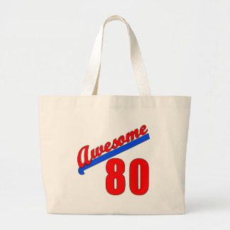Awesome at 80 Years Old 80th Birthday Jumbo Tote Bag