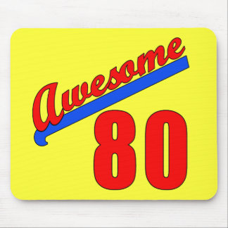 Awesome at 80 Years Old 80th Birthday Mouse Pad