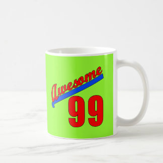 Awesome at 99 Years Old or Young Basic White Mug