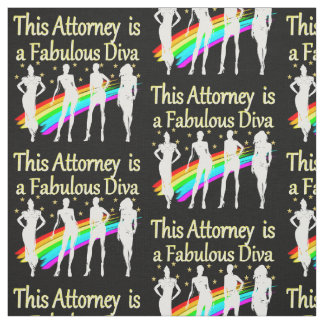 AWESOME ATTORNEY PARTY GIRL DESIGN FABRIC