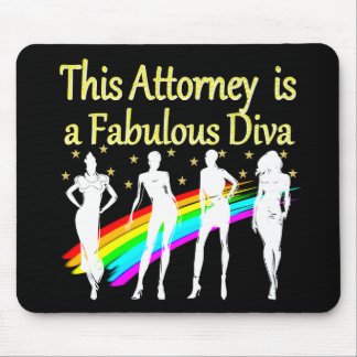 AWESOME ATTORNEY PARTY GIRL DESIGN MOUSE PAD