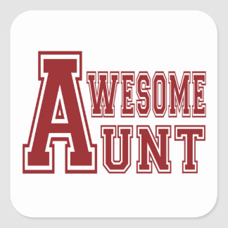 Awesome Aunt Square Stickers