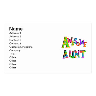 Awesome Aunt T-shirts and Gifts Business Card Templates