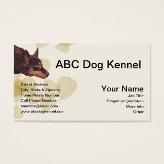 Awesome Australian Red Kelpie Business Card