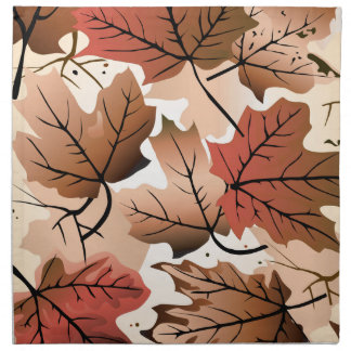 Awesome Autumn Forest Floor Dinner Napkin