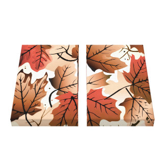 Awesome Autumn Leaves Art Print Canvas Gallery Wrap Canvas