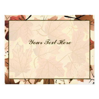 Awesome Autumn Leaves Personalized Flyer