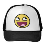 awesome /b/ smiley face mesh hats