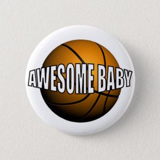 AWESOME BABY 6 CM ROUND BADGE