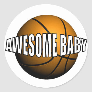 AWESOME BABY ROUND STICKER