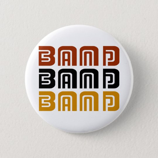 Awesome Band Trio Music Gift 6 Cm Round Badge